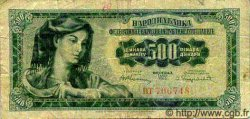 500 Dinara YOUGOSLAVIE  1955 P.070 B+ à TB