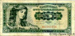 5 Dinara YOUGOSLAVIE  1965 P.077b B+