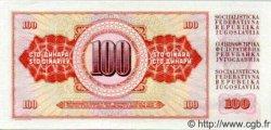 100 Dinara YOUGOSLAVIE  1965 P.080b NEUF