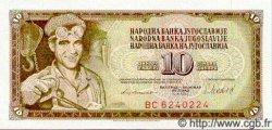 10 Dinara YOUGOSLAVIE  1981 P.087 NEUF