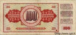 100 Dinara YOUGOSLAVIE  1981 P.090 TB