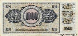 1000 Dinara YOUGOSLAVIE  1981 P.092 TTB