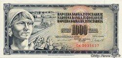 1000 Dinara YOUGOSLAVIE  1981 P.092 SUP