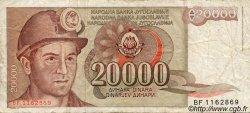 20000 Dinara YOUGOSLAVIE  1987 P.095 TB