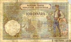 100 Dinara YOUGOSLAVIE  1941 P.R.13b B+