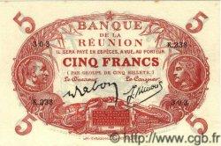 5 Francs ÎLE DE LA RÉUNION  1944 P.14 SPL+