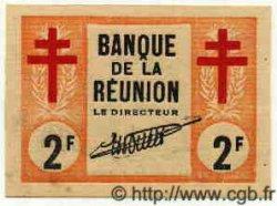 2 Francs Croix de Lorraine ÎLE DE LA RÉUNION  1943 P.35 pr.NEUF