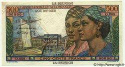 500 Francs  POINTE A PITRE ÎLE DE LA RÉUNION  1946 P.46 pr.SUP