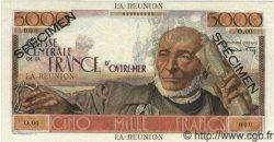 5000 Francs SCHOELCHER ÎLE DE LA RÉUNION  1946 P.48s NEUF