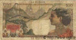 100 Francs La Bourdonnais ÎLE DE LA RÉUNION  1960 P.49 B à TB