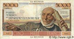 5000 Francs SCHOELCHER ÎLE DE LA RÉUNION  1960 P.50 TTB