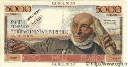5000 Francs SCHOELCHER ÎLE DE LA RÉUNION  1960 P.50s
