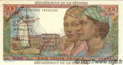 500 Francs POINTE A PITRE ÎLE DE LA RÉUNION  1964 P.51s SPL