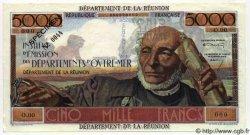 5000 Francs SCHOELCHER ÎLE DE LA RÉUNION  1964 P.53s SPL