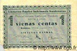 1 Centas LITUANIE  1922 P.01 TB+
