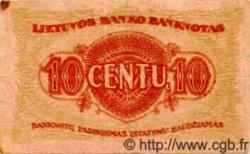 10 Centu LITUANIE  1922 P.10 TB