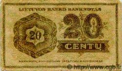 20 Centu LITUANIE  1922 P.11 TB