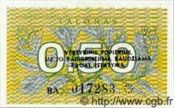 0,50 Talonas LITUANIE  1991 P.31b NEUF