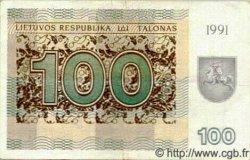 100 Talonu LITUANIE  1991 P.38a TTB
