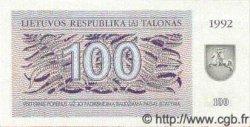 100 Talonu LITUANIE  1992 P.42 NEUF