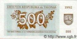500 Talonu LITUANIE  1992 P.44 NEUF