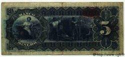 5 Pesos MEXIQUE  1901 PS.0163Ag B à TB