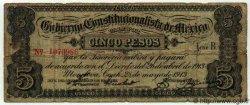 5 Pesos MEXIQUE  1913 PS.0628a B+