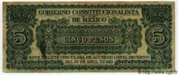5 Pesos MEXIQUE  1913 PS.0628c TB