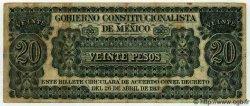 20 Pesos MEXIQUE  1913 PS.0632c TTB