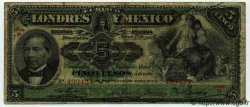 5 Pesos MEXIQUE  1906 PS.0233c B+ à TB