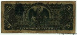 5 Pesos MEXIQUE  1910 PS.0233d B