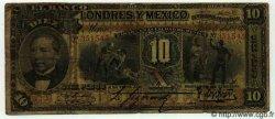 10 Pesos MEXIQUE  1909 PS.0234d pr.TB