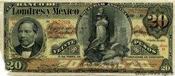 20 Pesos MEXIQUE  1913 PS.0235d B