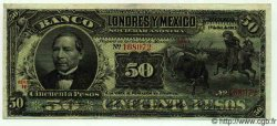 50 Pesos MEXIQUE  1913 PS.0236g TTB à SUP