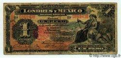 1 Peso MEXIQUE  1914 PS.0240 B à TB