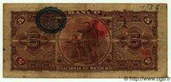 5 Pesos MEXIQUE  1908 PS.0257c TB
