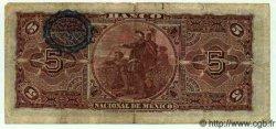 5 Pesos MEXIQUE  1909 PS.0257c TB