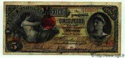 5 Pesos MEXIQUE  1910 PS.0257c TB