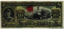 10 Pesos MEXIQUE  1910 PS.0258e B+