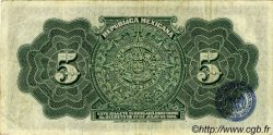5 Pesos MEXIQUE  1915 PS.0685a TTB