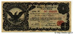 5 Pesos MEXIQUE  1914 PS.0713A TTB
