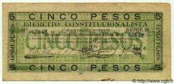5 Pesos MEXIQUE  1914 PS.0898 pr.TTB