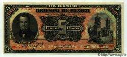 5 Pesos MEXIQUE  1914 PS.0381c SUP