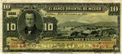 10 Pesos MEXIQUE  1910 PS.0382c B+