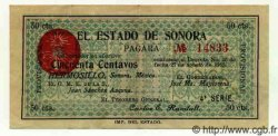 50 Centavos MEXIQUE Hermosillo 1913 PS.1065b SPL
