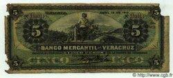 5 Pesos MEXIQUE  1910 PS.0437c AB