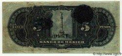 5 Pesos MEXIQUE  1915 P.699h TTB