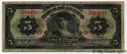 5 Pesos MEXIQUE  1961 P.714Ag B+