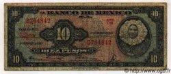 10 Pesos MEXIQUE  1954 P.716a B+