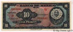 10 Pesos MEXIQUE  1958 P.716e TTB+ à SUP
